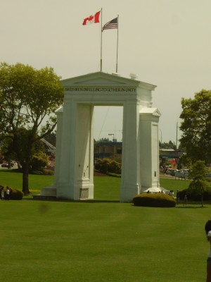Peace Arch Between Washington and Canada