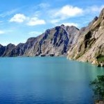 volcano lake in Philippines Pinutubo
