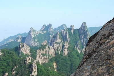 the mountains in Sokcho South Korea